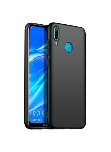 Microsonic Huawei Y6 2019 Kılıf Premium Slim Siyah Siyah